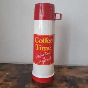Vintage Coffee Time Thermos